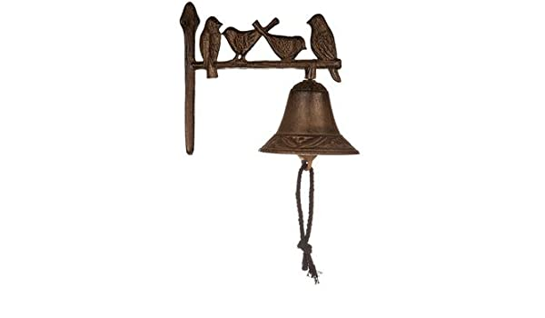 Cast Iron Wall Mount Bird Bell Indoor//Outdoor Decor //