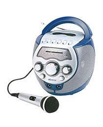 (Portable Karaoke System w/AM/FM Radio & Cassette - Blue)