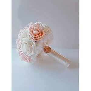 blush wedding bouquet for brides, blush bridal bouquet for weddings, blush bridesmaid bouquets, Ivory bouquet, blush and ivory bouquet. Valentine's day 84