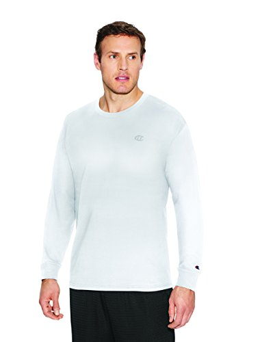- Champion Men's Classic Jersey Long Sleeve T-Shirt, White, M