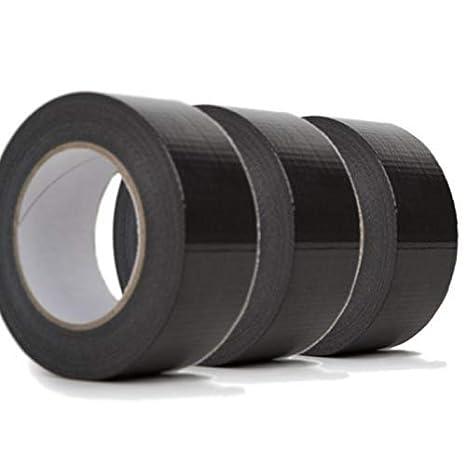 6 Rollen SECOTEC Gewebeband schwarz; 48 mm x 50 m; Panzertape extra stark; Inhalt