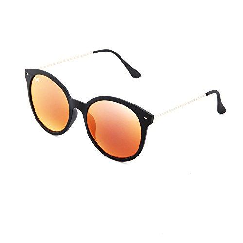 mujer REMBRANDT espejo Gafas redondo TWIG de Negro sol Rosa xqwUv6O