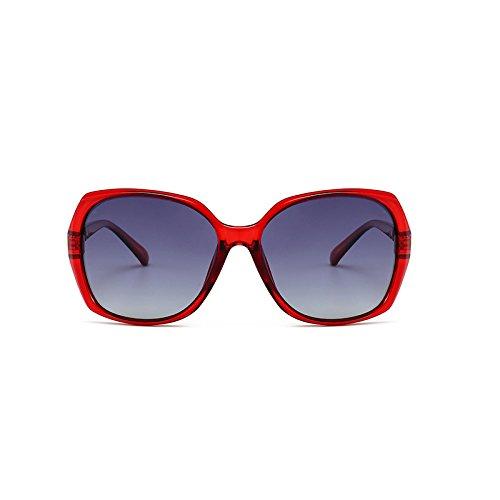Générique Dames Powder Lunettes de Lunettes Soleil Fashion Populaires Sunglasses féminins rétro Frame Red Couleur polarisées Cadre Modèles Ronde Cadre Soleil de Lunettes Box rPxH4rza
