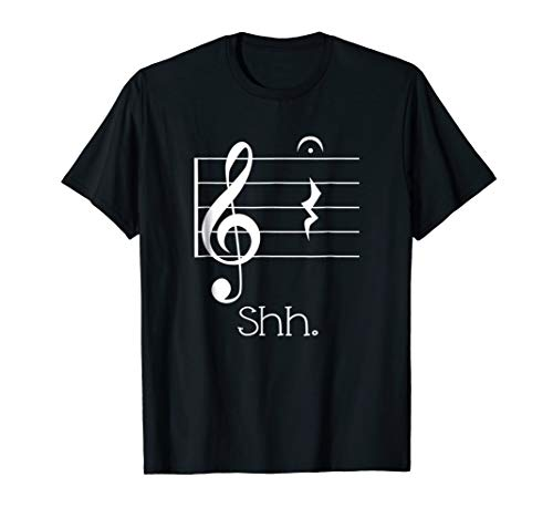 Music Notes Shirt Quarter Rest and Fermata Parody