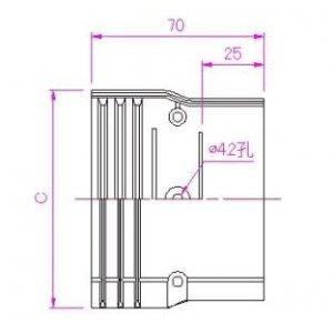 10個セット 配管化粧カバー ジャバラ継手 77タイプ ブラック KJT-75-B_set