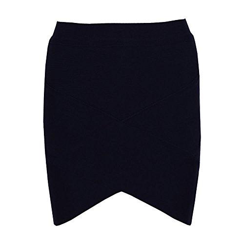 Skirt Women's Bandage Nero Irregular Mini Sexy HLBandage XO4pqfw