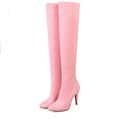 Sanmulyh Chaussures Dames Bottes De Mode Printemps Nouveauté Confort Automne Chaussures Plates Bottes Rose Pour Fête De Mariage Et Soirée