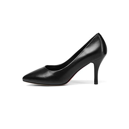 AdeeSu SDC06031 36 5 Femme Noir Ouvert Noir Bout Bq8qrv