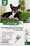 Advantage 10 Topical Solution Once-a-month Topical Flea and Lice Treatment for Dogs and Puppies 7 Weeks and Older and 10lbs. And Under, My Pet Supplies
