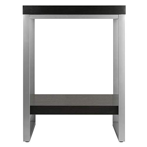 home, kitchen, furniture, living room furniture, tables,  end tables 9 image Winsome Wood Jared End Table, Espresso Finish deals