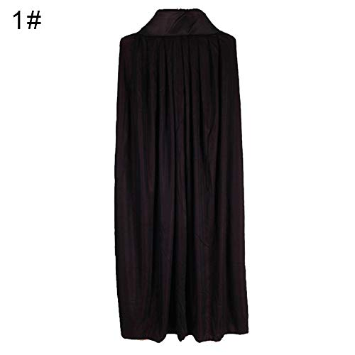 LeSharp Vampire Cloak,Halloween Cosplay Costume, Hooded Witch Wizard Vampires Cape Cloak, Festival Party Decorative Gown Props for Kids Adult Hooded Double Layers Collar L]()