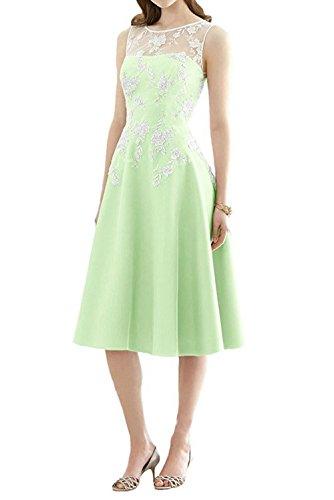 la Mujer Vestido Line Vestido de Vestido JAEDEN Dama la Rodilla A Largo hasta de Fiesta de Verde Menta de satén Honor Noche OdIwfwq