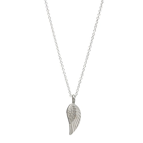 """Dogeared Love and Light, Guardian Angel Wing, Silver Chain Necklace, 16""""+2"""" Extender"""