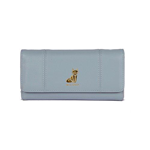 bourse light Pure Une blue court avec Burenqi Long Couleur un Wallet longue circuit Pure qEw748R
