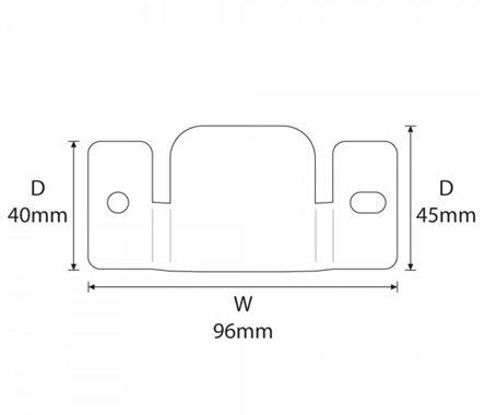 Metal unibles conexión Clips para sofás y muebles X 2 pares ...