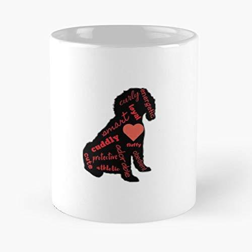 Apricot Mug - Black Dog Labradoodle Cream Apricot - Coffee Mug And Tea Cup Gift 11 Oz Best Mugs For Choose