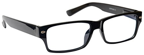 Black Near Short Sighted Distance Glasses for Myopia Mens Womens Spring Hinges M6-1 -2.50