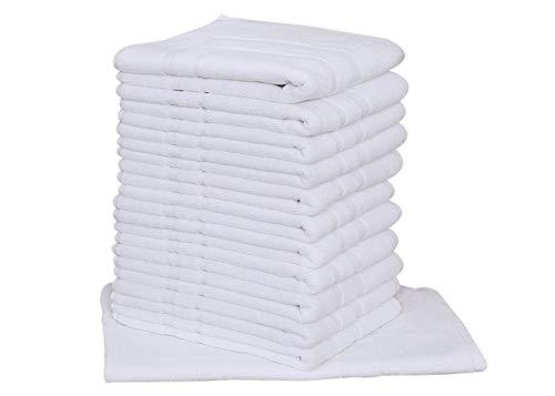 24pc Lot of New White Cotton Hotel Bath Mats 7#dz 20x30 Hotel Supplies Wholesale By OMNI LINENS