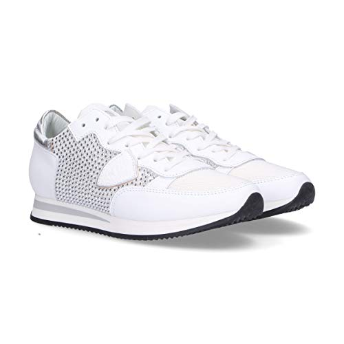 Philippe Cuero Blanco Model Mujer Zapatillas Trldss02 4wr84qF