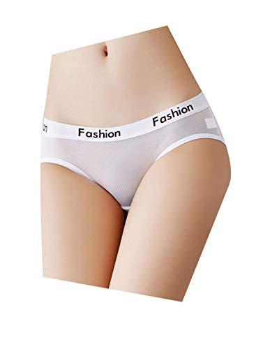 Justgoo Women's Sexy Sheer Panties Thongs Mesh G-Strings Hipster Underwear (Sheer G-string)