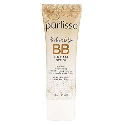 Texture Tone Skin And Evens (purlisse Perfect Glow BB Cream SPF 30 - BB Cream for All Skin Types - Smooths Skin Texture, Evens Skin Tone - Medium, 1.4 Ounce)