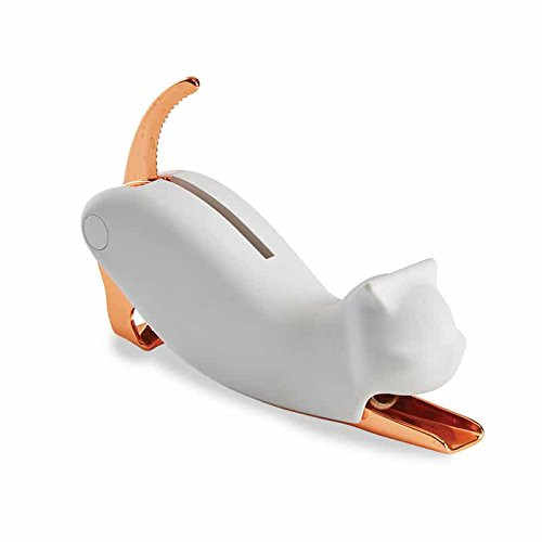 Cat Corkscrew (White & Rose Gold)