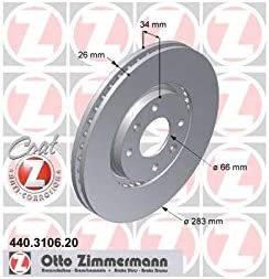 ZIMMERMANN Bremsscheiben 440.3106.20 2 St/ück COAT Z