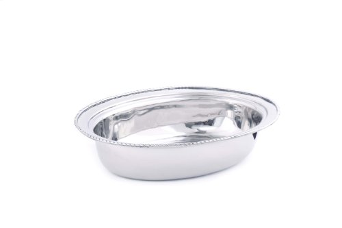 Dishwasher Oval Fry Safe Pan (Old Dutch FP682 Oval Stainless Steel Food Pan for No.682, 6-Quart)