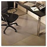 ES Robbins EverLife 46-Inch by 60-Inch Professional Series Medium Pile Carpet Anchor Bar Rectangle Vinyl Chair Mat, Clear