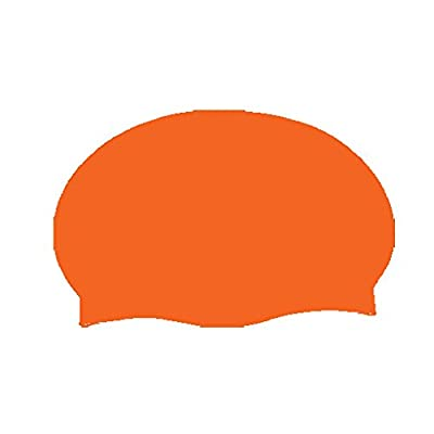 Chapeau orange de bain de latex [Divers.]