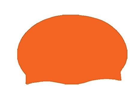 fe57fd0926 Amazon.com : Aqua World Orange Latex Swim Cap : Sports & Outdoors