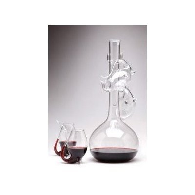 Jeray Port 5 Piece Decantus And Sipper Glass Set