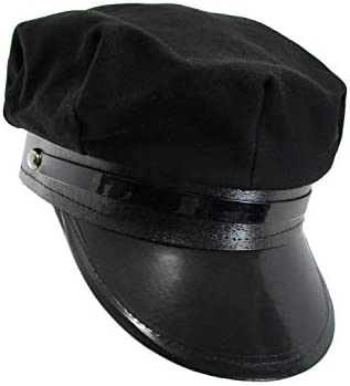 Jacobson Hat Company Adult Black Chauffeur Cap
