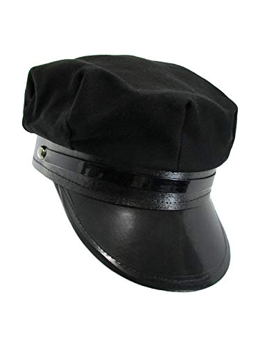 Black Chauffeur Taxi Limo Driver Hat Cap -