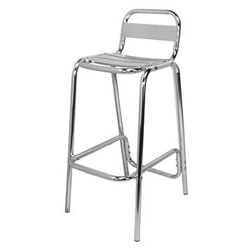 ILINEO Fauteuil Haut Aluminium Chaise Haute Extérieur