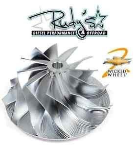 DieselSite Billet Turbo Compressor Wicked Wheel 2 for 01-04 Duramax LB7