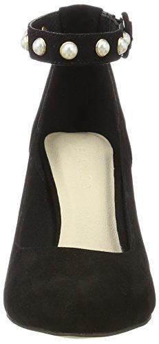 10 Bianco Bride Pumps Femme Perlen Noir Black Cheville rwSB0r
