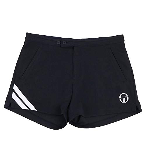 (Sergio Tacchini Mens Time Tennis Style Shorts Navy XL)