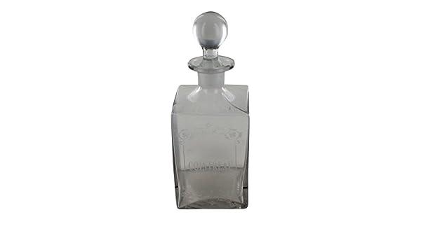 Botella de licor de vidrio, francés Vintage diseño