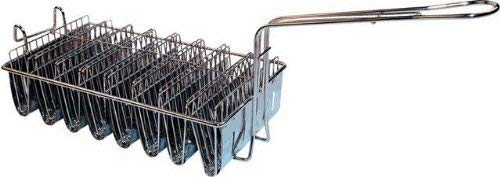 Taco Stainless Steel Clamp - Winco TB-8 Taco Basket, Holds 8 Shells