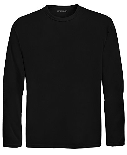 - DRI-EQUIP Youth Long Sleeve Moisture Wicking Athletic Shirts. Youth Sizes XS-XL, Black, Medium