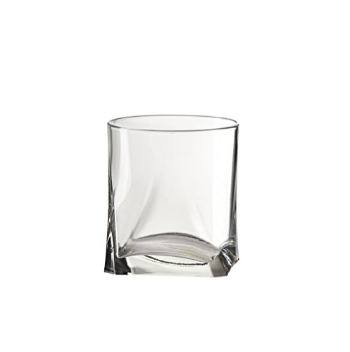 Modern Italian Glass - Amici Gotico Double Old Fashioned Glasses, 12 oz - Set of 6