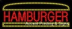 Hamburger LED Sign (High Impact, Energy Efficient)