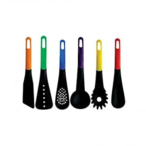 Kitchen Tools Kitchen Utensils Cooking Set Cookware Includes 6 Pieces Non-stick kitchen Supplies Gadgets - Soup Ladle, Skimmer, Slotted Spoon, Slotted Turner, Spoon, Pasta Fork