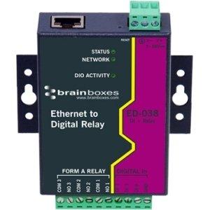 Buy brainboxes ethernet to digital io relay