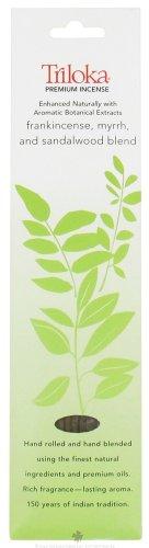 Triloka - Premium Incense Frankincense, Myrrh, and Sandalwood Blend - 10 Stick(s)