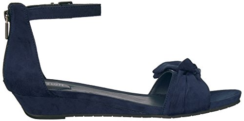 cheap sale original Kenneth Cole REACTION Women's Great Start Low Bow Detail Microsu Wedge Sandal Navy 100% guaranteed new styles online U3QPp7