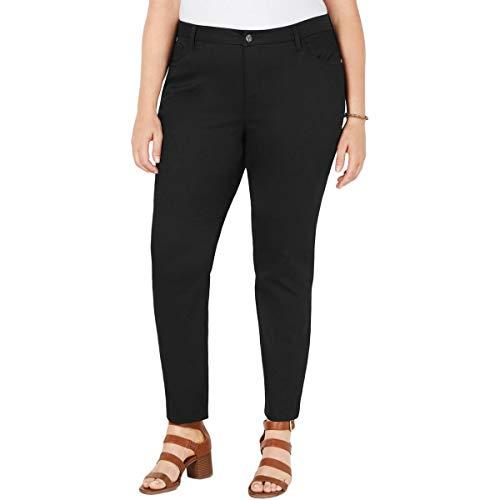 Style & Co. Womens Plus Mid-Rise Colored Straight Leg Pants Black - Pant Style Co Wide & Leg Woman