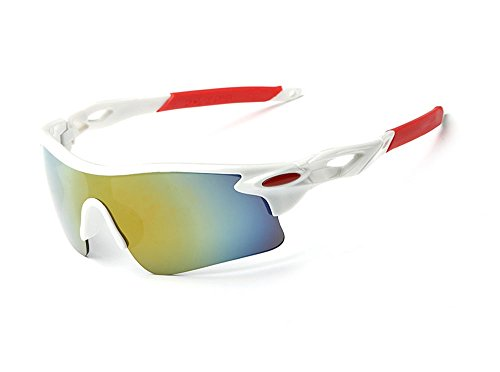 Shatterproof Windproof Dust-proof UV400 Protection Sunglasses - Cycling Fishing Baseball Running Outdoors (White, - Sunglasses Fitover Australia