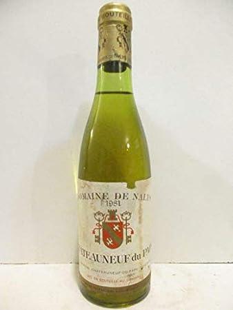 37 cl châteauneuf du pape domaine de nalys (étiquette abîmée) blanc 1981 - rhône